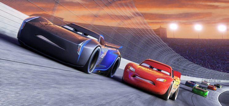 Jackson Storm (voiced by Armie Hammer) and Lightning McQueen (voiced by Owen Wilson) in 'Cars 3' (Photo: ©2016 Disney•Pixar)