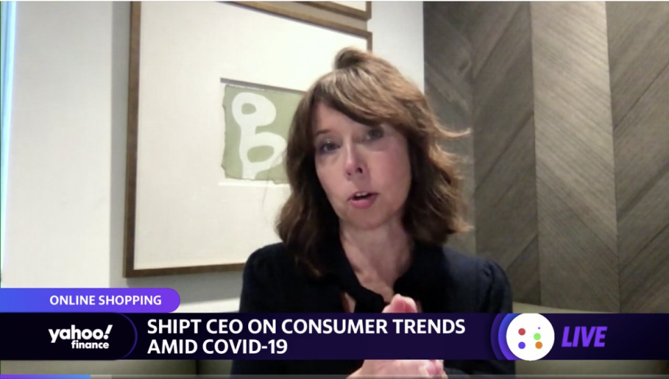 Shipt CEO Kelly Caruso speaks to Yahoo Finance Live.