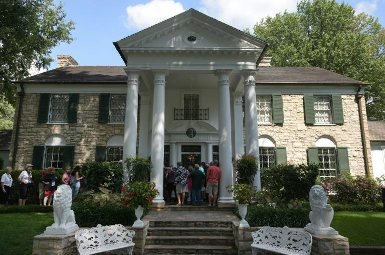 Elvis Presley's home Graceland in Memphis, Tennessee, photographed in 2017