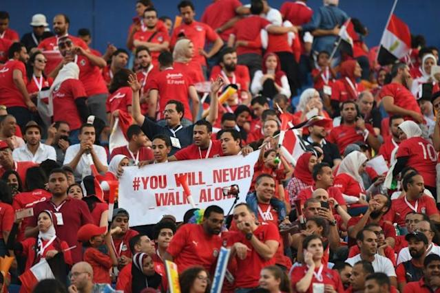Egyptian fans were left bitterly disappointed by the 1-0 defeat by South Africa on Saturday (AFP Photo/OZAN KOSE)