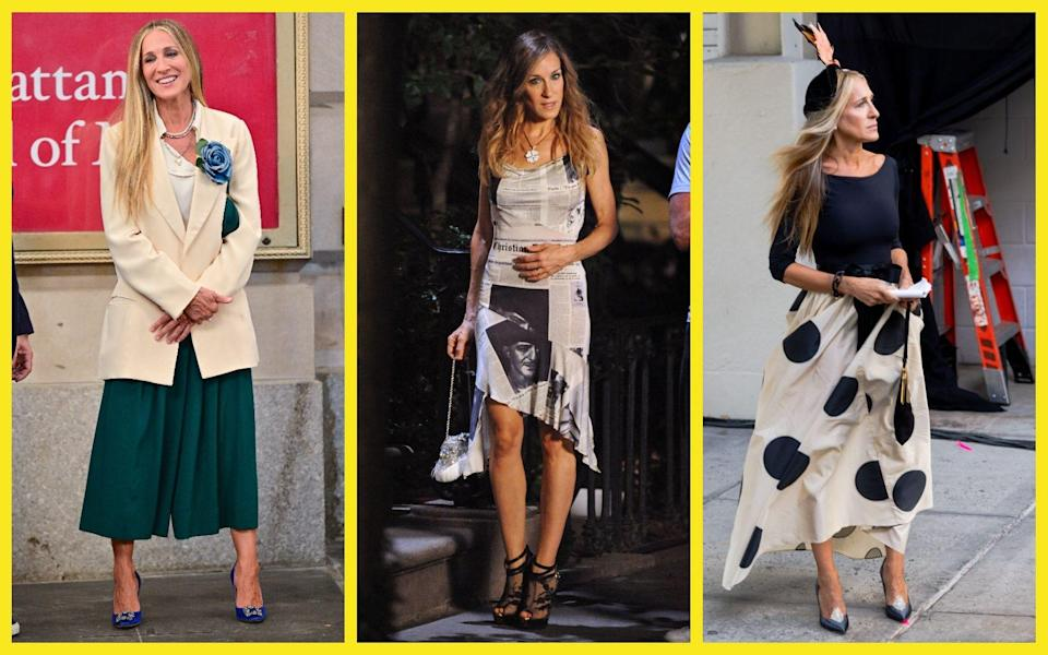 Sarah Jessica Parker in character as Carrie Bradshaw - Getty Images