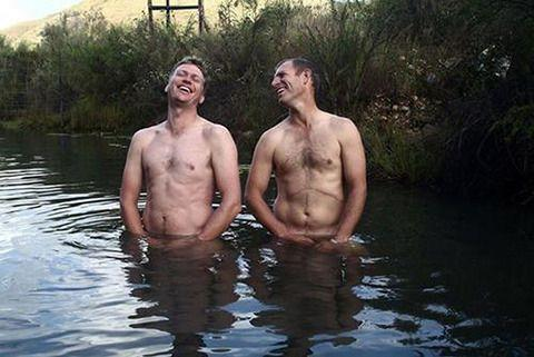 Two gents out for a dip. Photo: Josie Borain