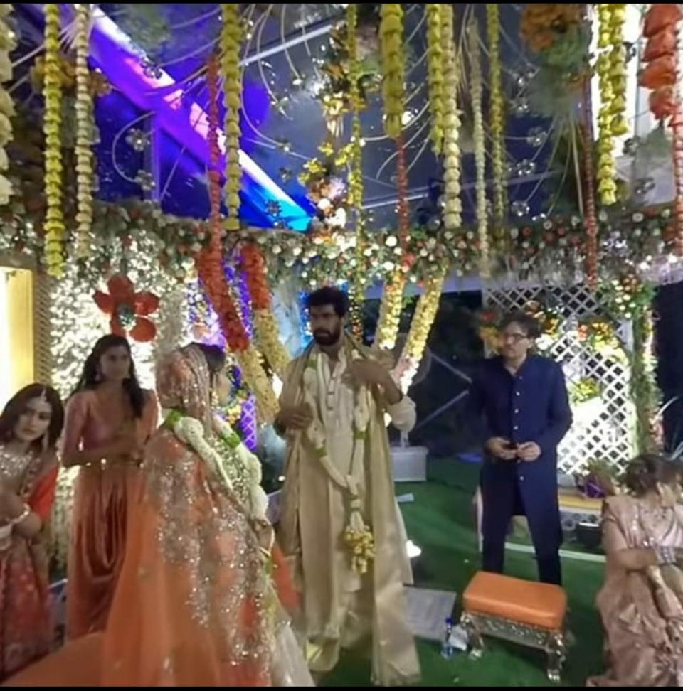 The couple got married in Hyderabad on Saturday.