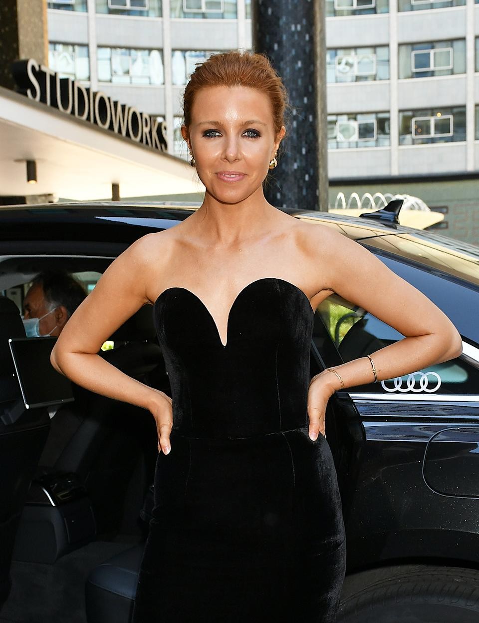 Stacey Dooley arrives in an Audi at the Virgin Media British Academy Television Awards 2020 at Television Centre on July 31, 2020 in London, England. (Photo by David M. Benett/Dave Benett/Getty Images for Audi UK)