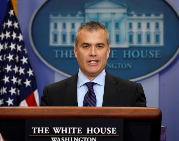 FILE PHOTO: OMB's Deputy Director for Management Zients talks at the White House in Washington