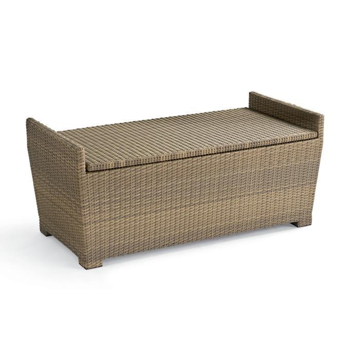 Tapered Wicker Storage Bench. Image via Frontgate.