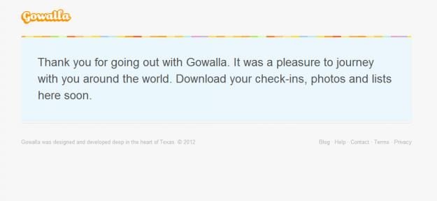 Gowalla officially closes its doors three months after acquisition by Facebook