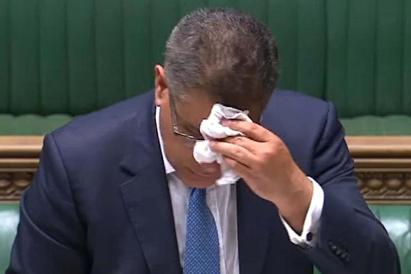 Alok Sharma, pictured in the Commons, has had a coronavirus test and is awaiting results (PRU/AFP via Getty Images)