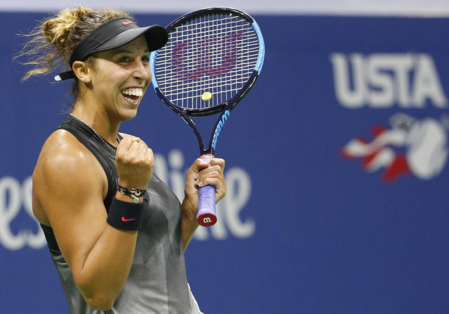 Madison Keys made sure it will be an all-American semifinal at the U.S. Open. (AP)