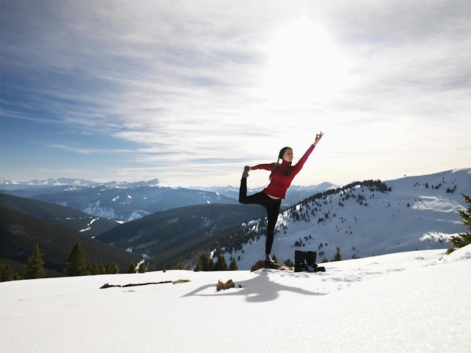 """<p><span>How about finding your inner zen on the ski slopes? The Lake Louise </span><a href=""""http://www.fairmont.com/lake-louise/special-offers/hotel-offers/special-events/ski-yoga-retreat/"""" rel=""""nofollow noopener"""" target=""""_blank"""" data-ylk=""""slk:Ski & Yoga Retreat"""" class=""""link rapid-noclick-resp""""><span>Ski & Yoga Retreat</span></a><span> sees guests enjoy a full weekend of yoga and mindfulness, as well as winter adventures such as skiing, cross country skiing, snowshoeing and ice skating. You'll leave feeling de-frazzled and recharged. Two nights full-board from £809 ($1,358). [Photo: Fairmont]</span> </p>"""