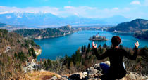 "<p>Just as the picture shows, <a href=""http://jessieonajourney.com/lake-bled/"" rel=""nofollow noopener"" target=""_blank"" data-ylk=""slk:Lake Bled"" class=""link rapid-noclick-resp"">Lake Bled</a> is absolutely beautiful — though getting this shot required cycling around half of its four-mile perimeter and hiking 20 minutes straight uphill to reach the Ojstrica view point. So worth it! <i>—Jessica Festa, <a href=""http://jessieonajourney.com"" rel=""nofollow noopener"" target=""_blank"" data-ylk=""slk:Jessie on a Journey"" class=""link rapid-noclick-resp"">Jessie on a Journey</a></i><br></p>"
