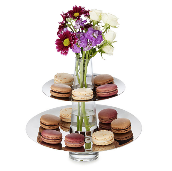 """<p>The base of this tiered tray acts overtime as a vase, so your freshly baked brownies can hang alongside fresh buds.</p><p><strong><em>BUY IT NOW: Two Tiered Serving Tray Vase, $130; </em></strong><a href=""""https://www.uncommongoods.com/product/two-tiered-serving-tray-vase"""" rel=""""nofollow noopener"""" target=""""_blank"""" data-ylk=""""slk:Uncommongoods.com"""" class=""""link rapid-noclick-resp""""><strong><em>Uncommongoods.com</em></strong></a></p>"""