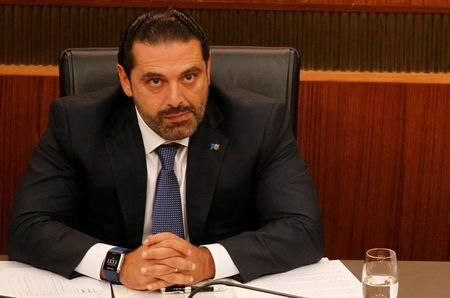 FILE PHOTO: Lebanon's Prime Minister Saad al-Hariri attends a general parliament discussion in downtown Beirut, Lebanon October 18, 2017. REUTERS/Mohamed Azakir/File Photo