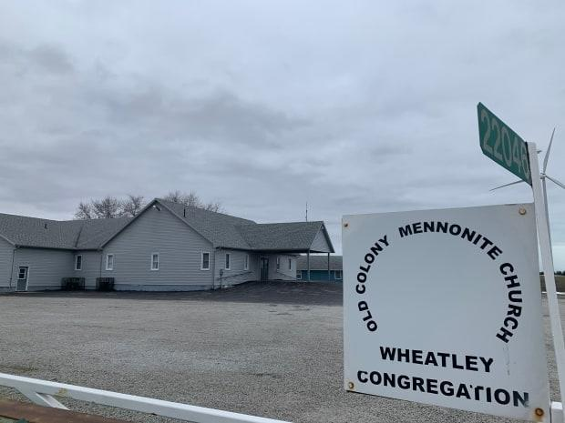 Old Colony Mennonite Church in Wheatley is shown in a file photo. (Elvis Nouemsi Njike/ Radio-Canada - image credit)