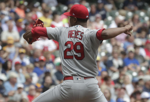 Alex Reyes revealed his daughter's battle with cancer. (AP Photo)