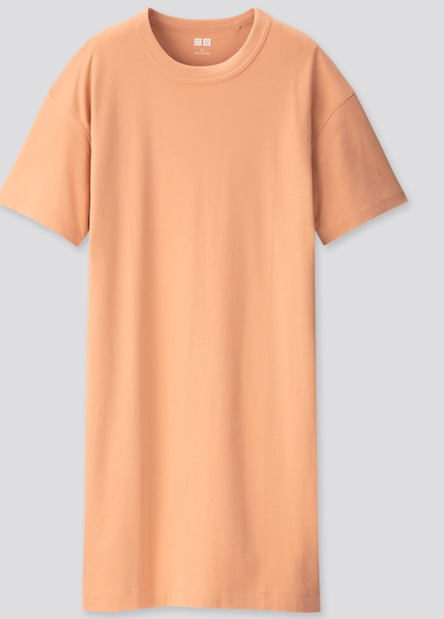 """<br><br><strong>Uniqlo</strong> Women U Crew Neck Short-Sleeve T-Shirt Dress, $, available at <a href=""""https://go.skimresources.com/?id=30283X879131&url=https%3A%2F%2Fwww.uniqlo.com%2Fus%2Fen%2Fwomen-u-crew-neck-short-sleeve-t-shirt-dress-422516COL22SMA004000.html"""" rel=""""nofollow noopener"""" target=""""_blank"""" data-ylk=""""slk:Uniqlo"""" class=""""link rapid-noclick-resp"""">Uniqlo</a>"""