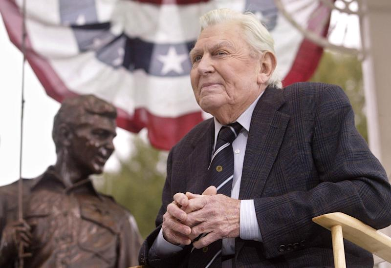 Andy Griffith evoked, stylized small-town America