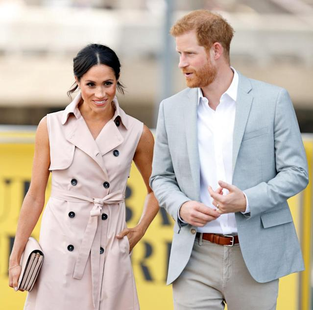 Meghan, Duchess of Sussex, and Prince Harry, Duke of Sussex, in London. (Photo: Max Mumby/Indigo/Getty Images)