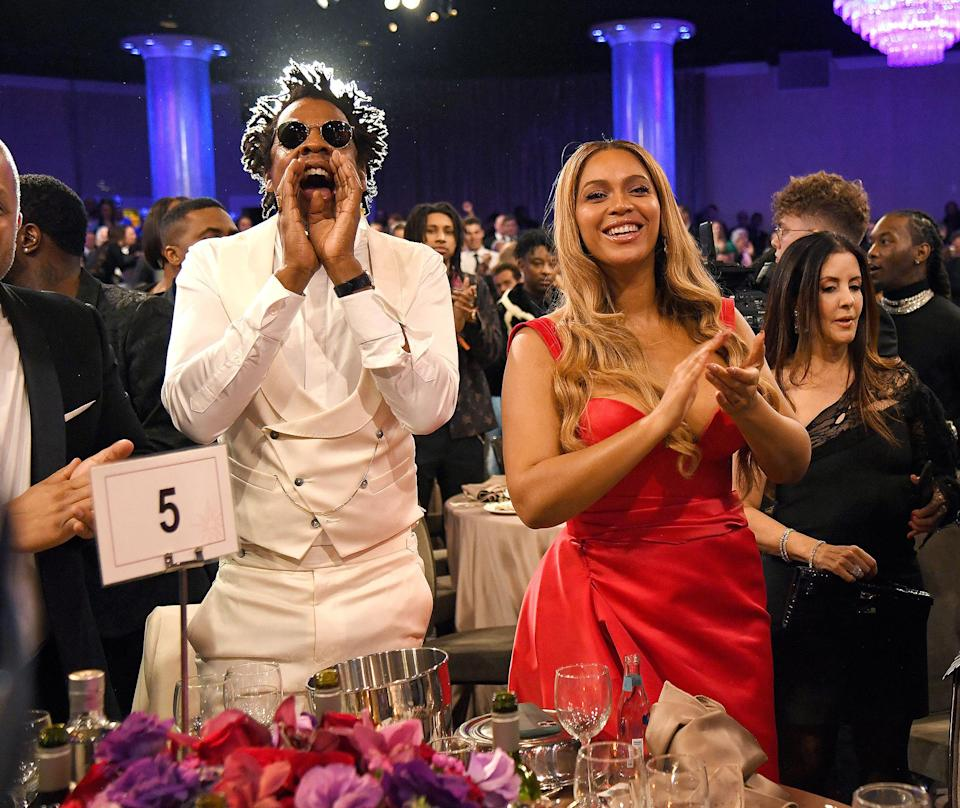 "<p>In 2018, Beyoncé made history as the <a href=""https://people.com/music/beyonce-surprise-live-coachella-album/"" rel=""nofollow noopener"" target=""_blank"" data-ylk=""slk:first Black woman to headline Coachella"" class=""link rapid-noclick-resp"">first Black woman to headline Coachella</a>. Affectionately known as Beychella, the Queen blessed us with the ability to see it for ourselves when she when she released <em>HΘMΣCΘMING: THE LIVE ALBUM</em> in 2019. In 2020, she took home a Grammy for best music film for her work. </p> <p><strong>Beyoncé's Grammy Tally: </strong>24</p>"
