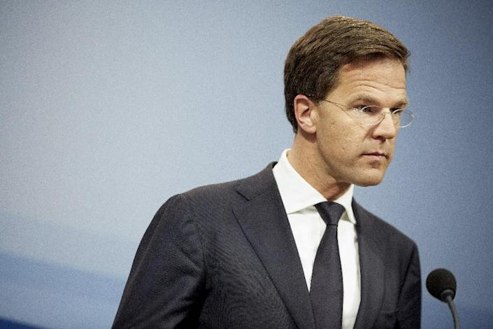 Moscow has issued a blacklist of European Union politicians barred from Russia in response to EU sanctions over Crimea and Ukraine, said Dutch Prime Minister Mark Rutte, pictured on April 24, 2015 at The Hague (AFP Photo/Martijn Beekman)
