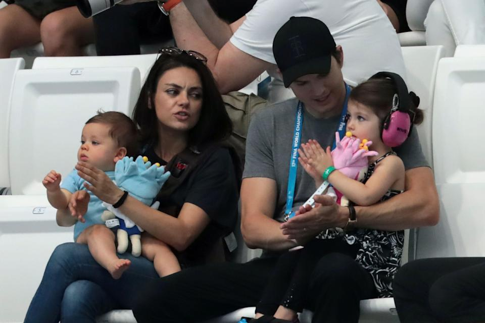 Mila Kunis and Ashton Kutcher used a smart crib to soothe their baby to sleep. (Photo: Getty Images)