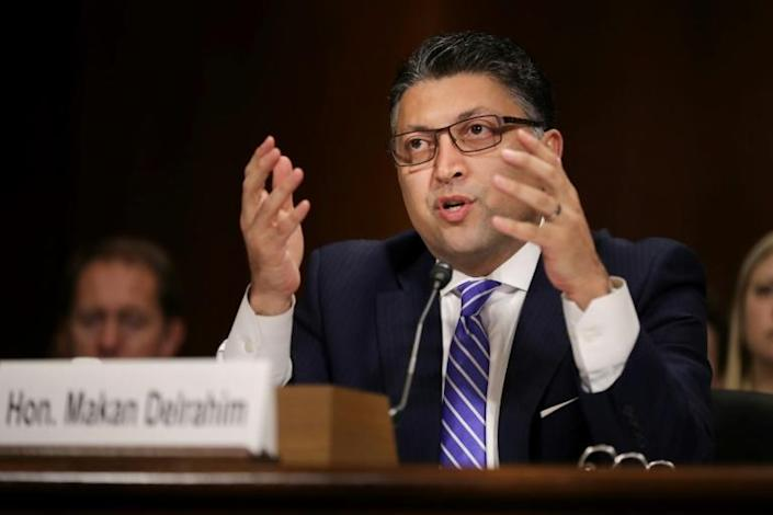 Assistant Attorney General for Antitrust Makan Delrahim announced a review of whether major online platforms have stifled competition (AFP Photo/CHIP SOMODEVILLA)