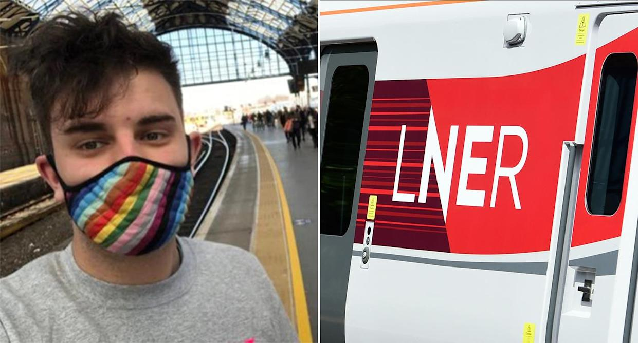 London North Eastern Railway apologised to Laurence Coles after a train manager used the words
