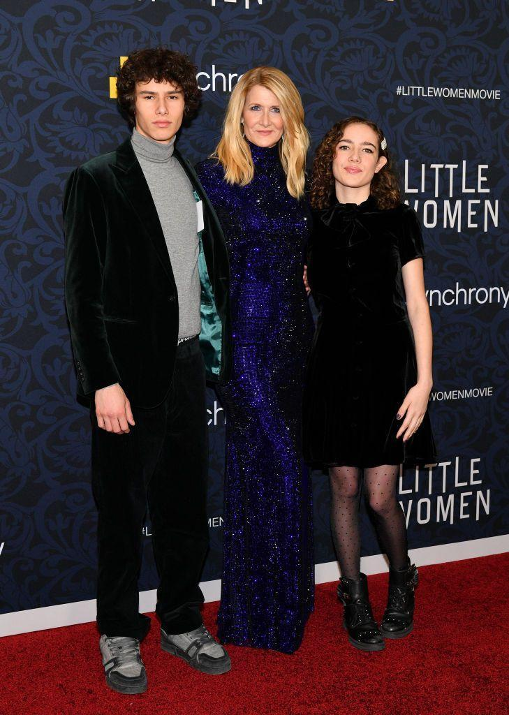 <p>Laura Dern shares two children with ex-husband, Ben Harper—Ellery, 18, and Jaja, 15. Until recently, Dern refrained from bringing her children into the spotlight, but since Ellery is pursuing a career in modeling, the two teenagers decided to accompany their actress mother to the <em>Little Women</em> premiere. </p>