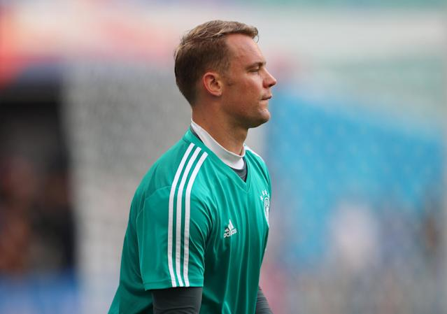 Soccer Football - World Cup - Germany Training - Fisht Stadium, Sochi, Russia - June 22, 2018 Germany's Manuel Neuer during training REUTERS/Hannah McKay