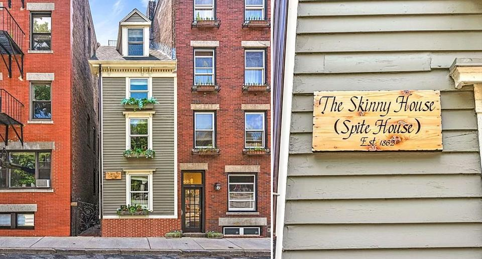The 'Skinny House' in Boston sold for $1.25 million. Source: Zillow