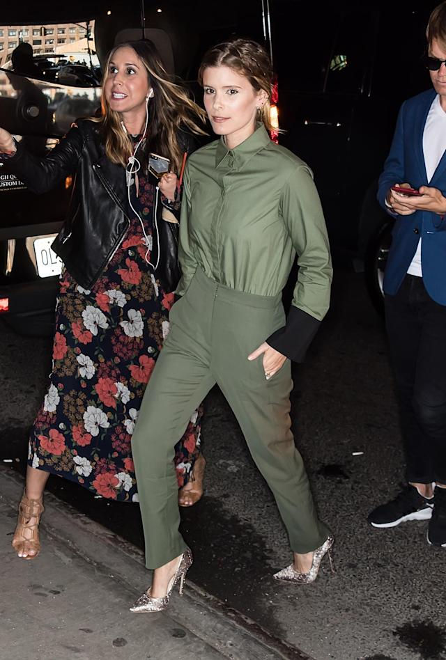<p>Kate Mara arriving at Noon By Noor fashion show during New York Fashion Week on September 7, 2017. (Photo by Gilbert Carrasquillo/GC Images) </p>