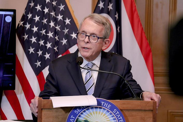 """Gov. Mike DeWine says Ohio has reached a """"critical juncture"""" in its battle against coronavirus infections as cases spike in Ohio due to spread of the disease."""