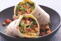 """This sweet and savory wrap requires no cook time and is a delicious way to eat up your leftover Thanksgiving turkey. <a href=""""https://www.epicurious.com/recipes/food/views/lentil-apple-and-turkey-wrap-239173?mbid=synd_yahoo_rss"""" rel=""""nofollow noopener"""" target=""""_blank"""" data-ylk=""""slk:See recipe."""" class=""""link rapid-noclick-resp"""">See recipe.</a>"""