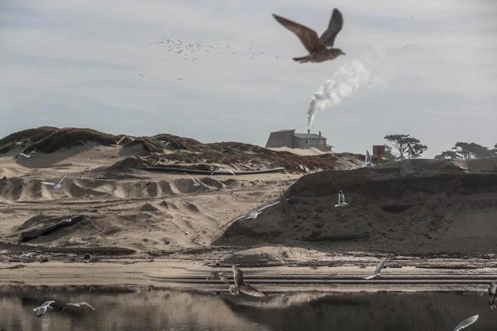 "A proposed desalination project would be located on the coast of Marina, where a sand mine has operated for decades. <span class=""copyright"">(Robert Gauthier / Los Angeles Times)</span>"