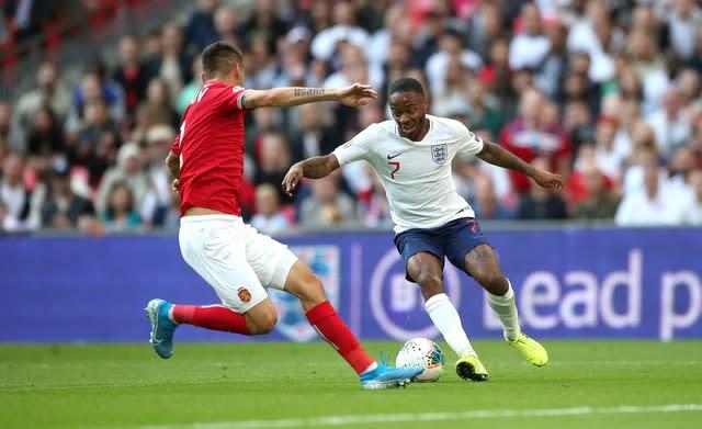 Raheem Sterling scored in England's win over Bulgaria (Nick Potts/PA).