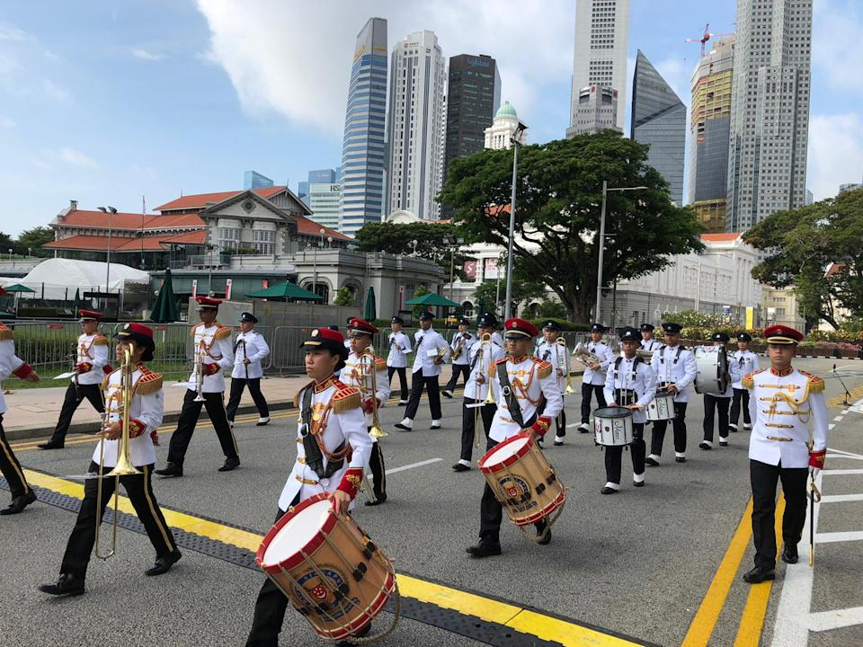 Part of the marching contingent from the Singapore Armed Forces at the National Day Parade on 9 August 2020. PHOTO: Nicholas Yong/Yahoo News Singapore