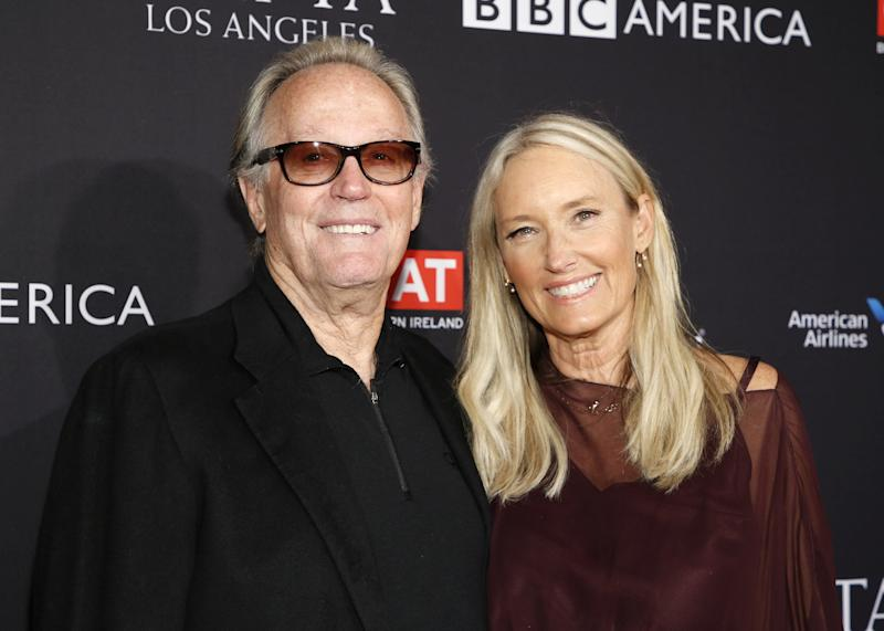 Actor Peter Fonda and wife, Parky