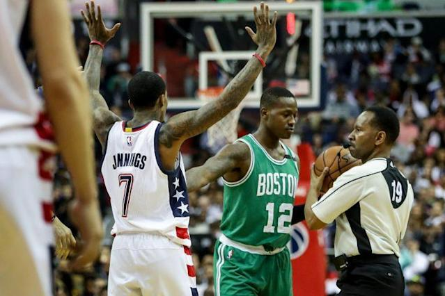 "Let's hope Game 6 doesn't come down to <a class=""link rapid-noclick-resp"" href=""/nba/players/5476/"" data-ylk=""slk:Terry Rozier"">Terry Rozier</a> vs. <a class=""link rapid-noclick-resp"" href=""/nba/players/4615/"" data-ylk=""slk:Brandon Jennings"">Brandon Jennings</a>. (AP)"