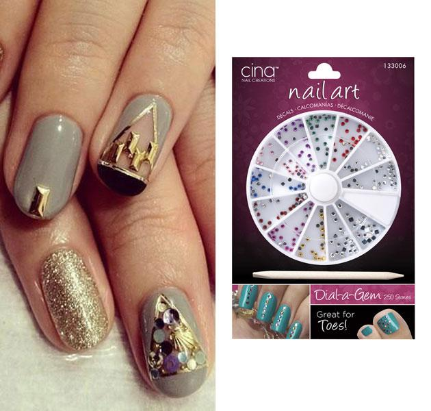 Gems for nails best nails 2018 the hottest nail art trends you can do at home prinsesfo Gallery