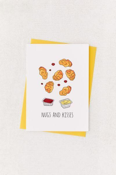 "<p>Bestow this beautiful card upon that special someone who always puts nuggs before hugs.</p><br><br><strong>Urban Outfitters</strong> Humdrum Paper Nugs + Kisses Valentine's Day Card, $6, available at <a href=""https://www.urbanoutfitters.com/shop/humdrum-paper-nugs-kisses-valentines-day-card"" rel=""nofollow noopener"" target=""_blank"" data-ylk=""slk:Urban Outfitters"" class=""link rapid-noclick-resp"">Urban Outfitters</a>"
