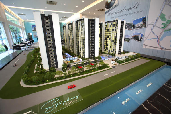 Symphony Suites scale model