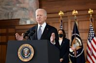 US President Joe Biden and Vice President Kamala Harris visited Atlanta, Georgia to console the Asian-American community over a series of murders, with Biden calling on Americans to 'speak out' and 'act' against racist and xenophobic attacks