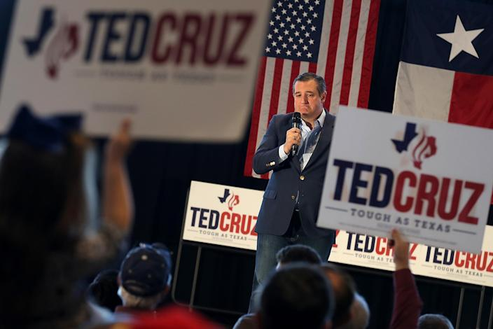 Republican Sen. Ted Cruz speaks during a rally on Nov. 2, 2018, in Athens, Texas. (Photo: Justin Sullivan/Getty Images)