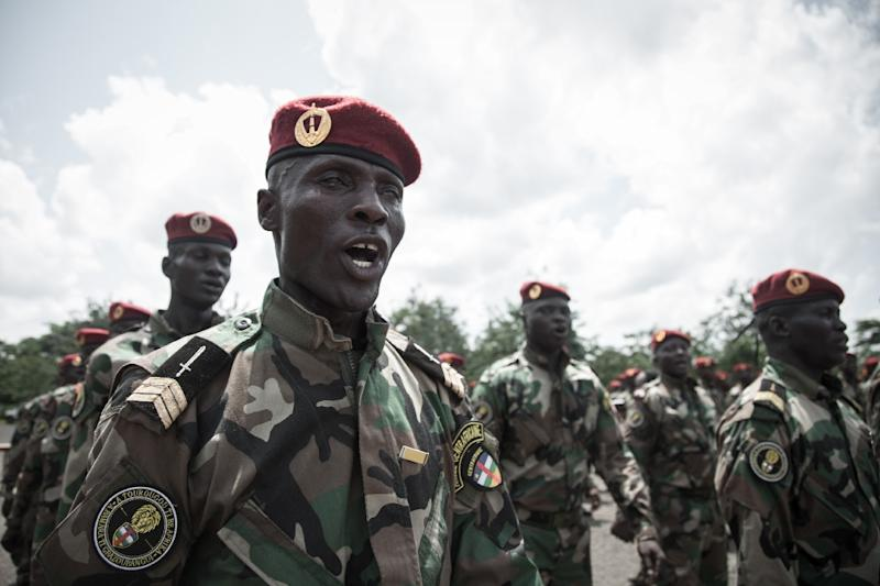 Central African Republic's Defence Minister Marie Noelle Koyara said 1,300 soldiers had been trained at the Russian facility