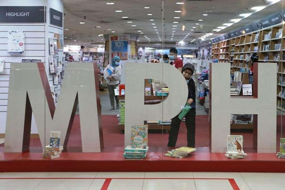 MPH Malaysia rolls out a 14-day quarantine and sanitisation exercise for second-hand books. — Picture by Ahmad Zamzahuri