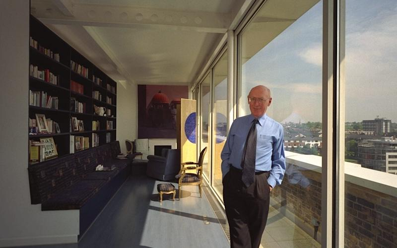 Sir Clive Sinclair at his Kings Cross loft flat - Credit: Andrew Crowley