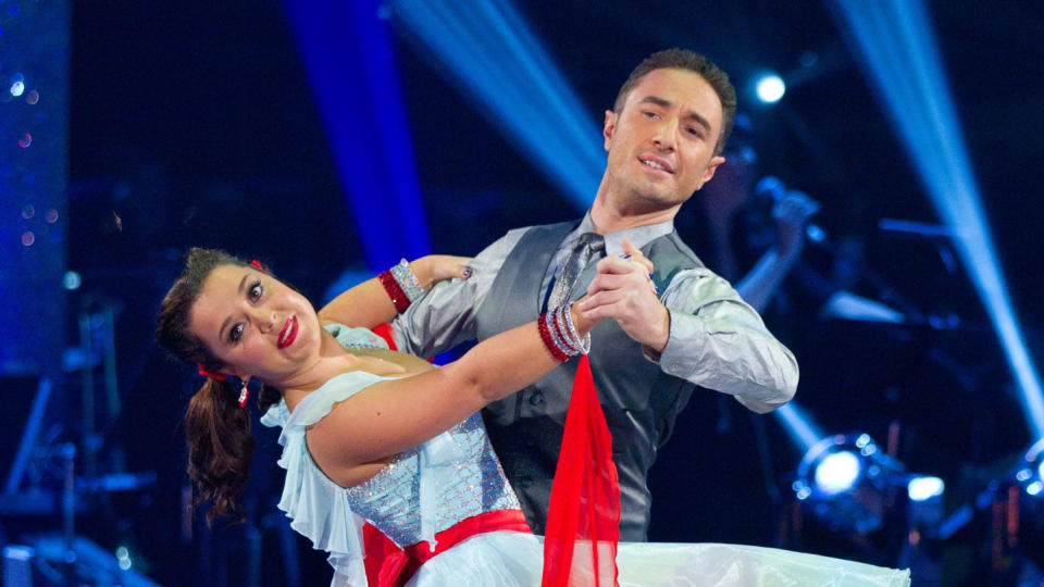 Dani Harmer and Vincent Simone in the 2012 series of 'Strictly Come Dancing'. (Credit: BBC)