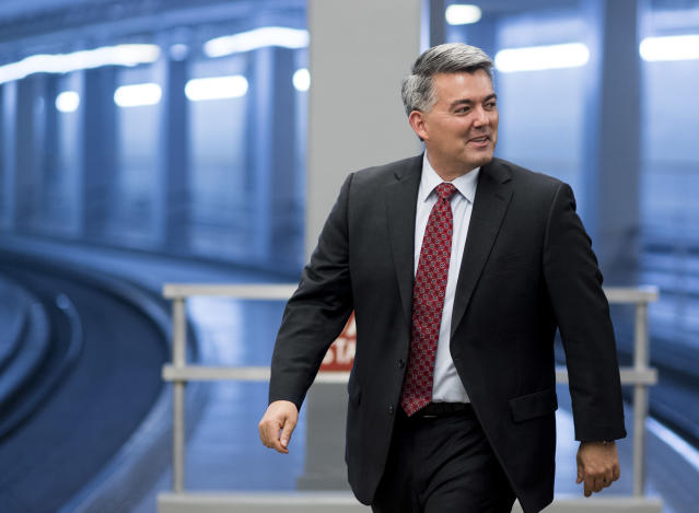 Sen. Cory Gardner, R-Colo., arrives in the Capitol for a vote on Thursday. (Photo: Bill Clark/CQ Roll Call via Getty Images)