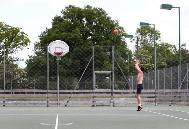Basketball courts could be among the outdoor sports facilities able to reopen from the end of next month