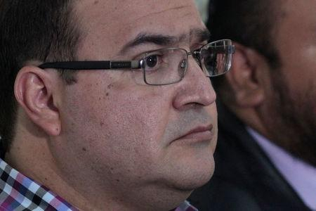 Duarte, former governor of Mexican state Veracruz, appears in a court for extradition proceedings in Guatemala City